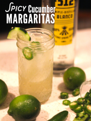 spicy cucumber margarita cocktail recipe