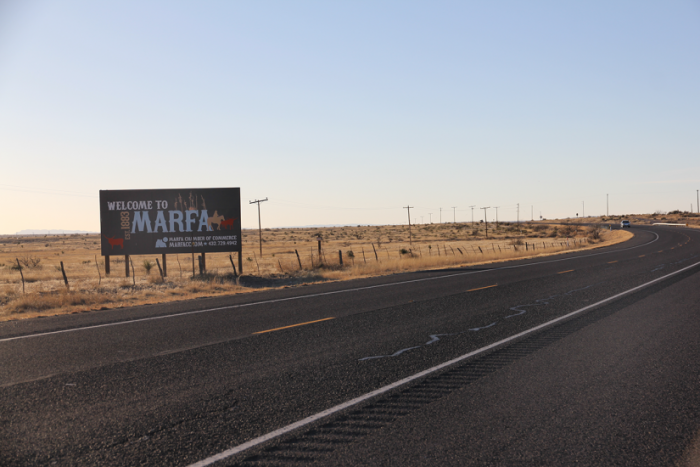 welcome to marfa sign