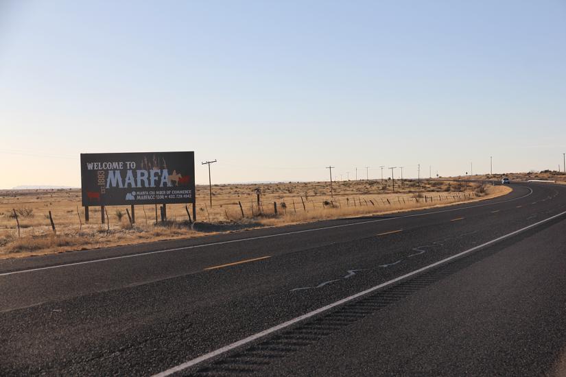 welcome to marfa sign