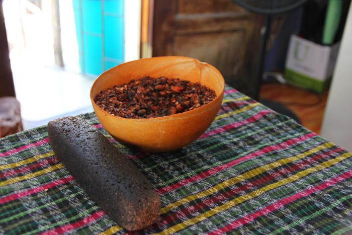 mayan chocolate making