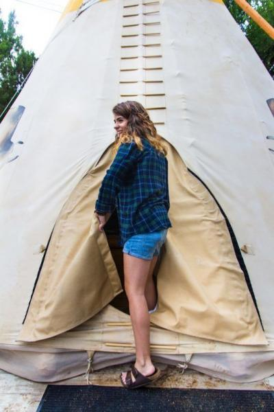 glamping in teepees