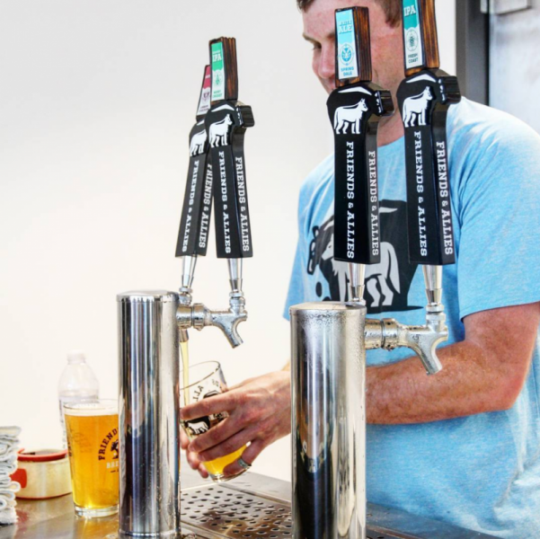 beer tap handles bear