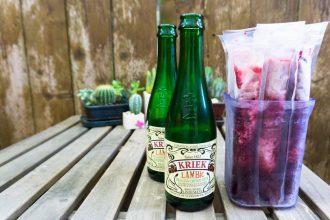 cherry lambic beer pops