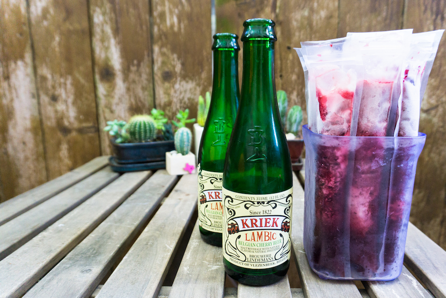 cherry lambic beer pops