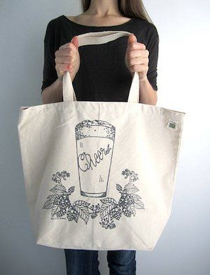 craft beer gift tote